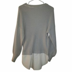 Noisy may long  sweater built in blouse size  xs